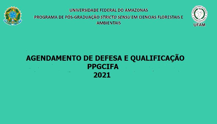 AGENDA DE DEFESA E QUALIFICAÇÃO- 2021